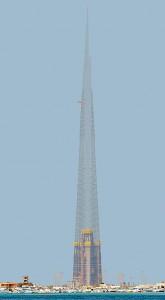 Jeddah Tower foi projetado para atingir 1.008 metros de altura, com uso da tecnologia de paredes de concreto Crédito: Jeddah Economic Company