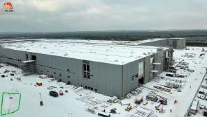 Gigafactory da Tesla, na região metropolitana de Berlim deve ser inaugurada em julho de 2021, após 17 meses de construção Crédito: @Gf4Tesla