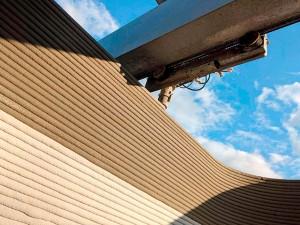 Impressão utiliza um tipo de concreto batizado de Lavacrete, à base de Cimento Portland e aditivos especiais Crédito: ICON Build