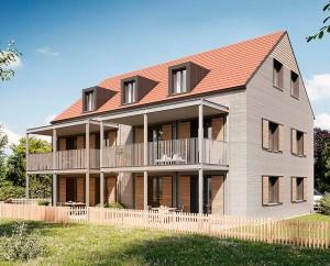 Desenho mostra como ficará o prédio depois de concluído: impressão 3D sai dos laboratórios e entra no mercado imobiliário alemão Crédito: Rupp Gebäudedruck