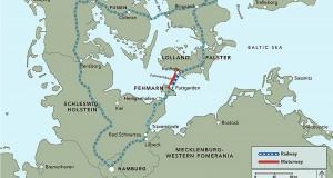 Trecho em que será construído o túnel é o mais curto entre a Alemanha e a Dinamarca Crédito: Femern Link Contractors