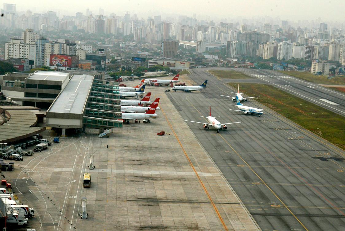Aeroporto de Congonhas, em São Paulo-SP, é o que mais recebe voos domésticos e o 2º em volume de embarques e desembarques no Brasil. Crédito: Infraero