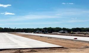 Base da Força Aérea em Avon Park, na Flórida: consumo de 13.762 m³ de concreto e uso de Cimento Portland com 28% de escória de alto-forno na composição Crédito: Slag Cement Association