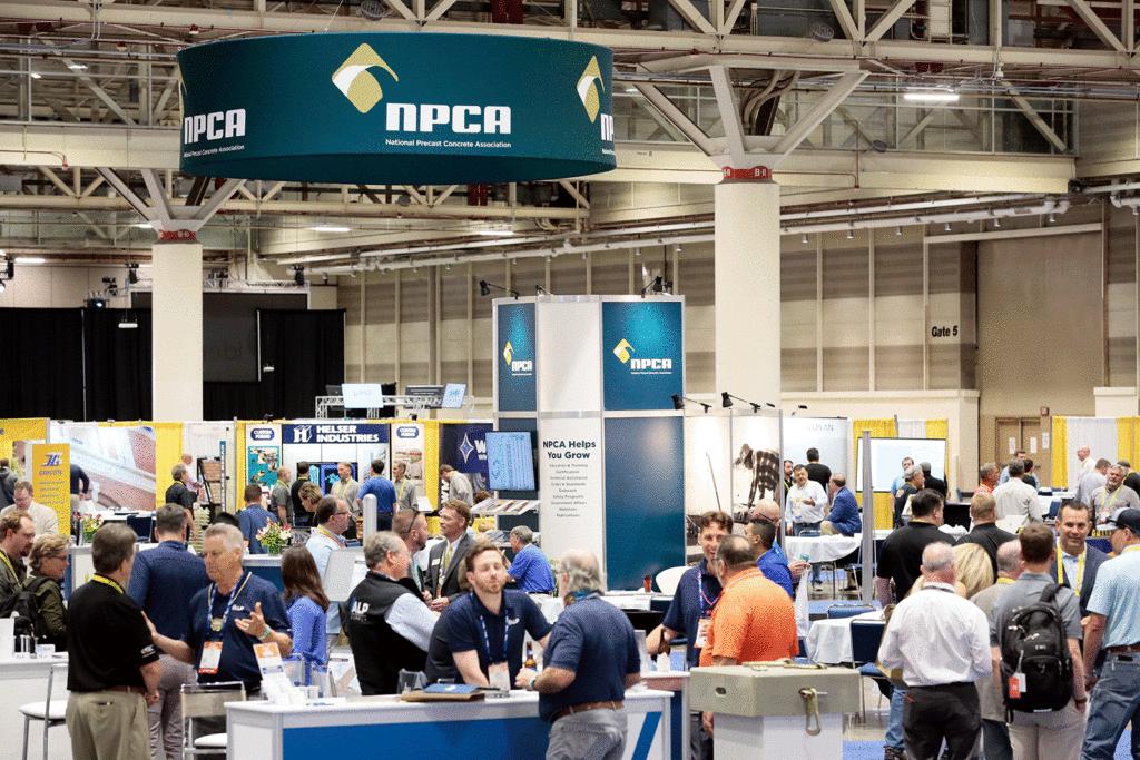Precast Show, realizado de 20 a 22 de maio, em New Orleans, marcou o retorno dos eventos da construção civil nos Estados Unidos. Crédito: NPCA
