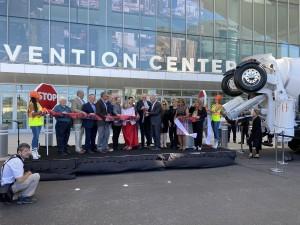Cerimônia de abertura do World of Concrete 2021 aconteceu na 2ª semana de junho, em Las Vegas. Crédito: Twitter/WOC2021