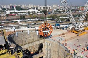 Construção da Linha 6 do Metrô de São Paulo-SP tem investimento de 15 bilhões de reais e é umas das principais obras de infraestrutura do Brasil Crédito: facebook/consórcio Linha 6 Laranja
