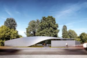 """Projeção de como ficará o """"The Cube"""" depois de concluído: concreto de carbono permite paredes esbeltas e curvas Crédito: Heen"""